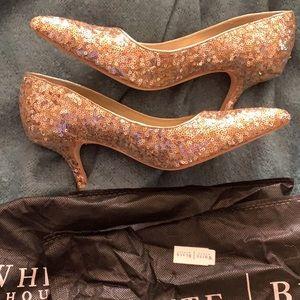 White House Black Market WHBM sequin heels